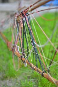 Zaun aus Fäden
